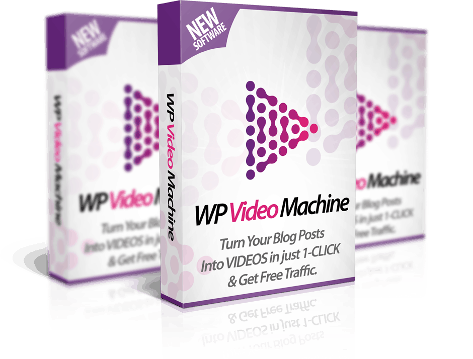 WP Video Machine mock-up. Video software incredibile!