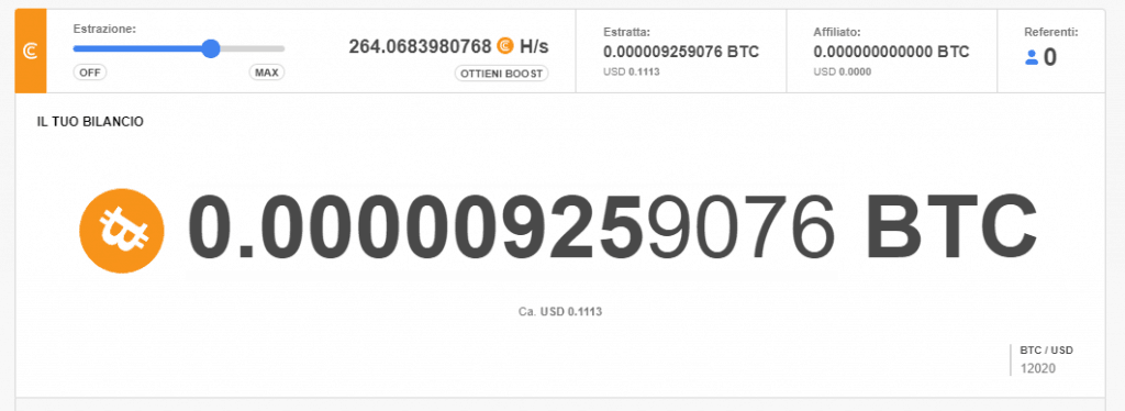 CryptoTab: give bitcoin: visual my wallet.
