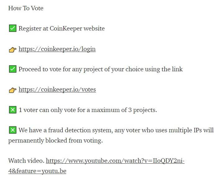 voting contest come fare step by step